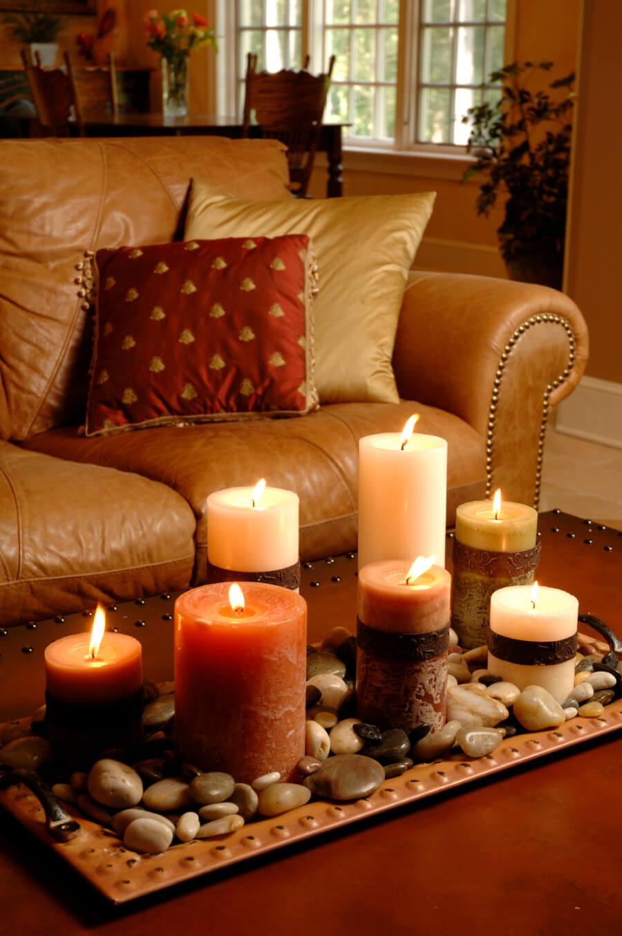 34 magnifiques id es de d coration avec des bougies chasseurs d 39 astuces. Black Bedroom Furniture Sets. Home Design Ideas