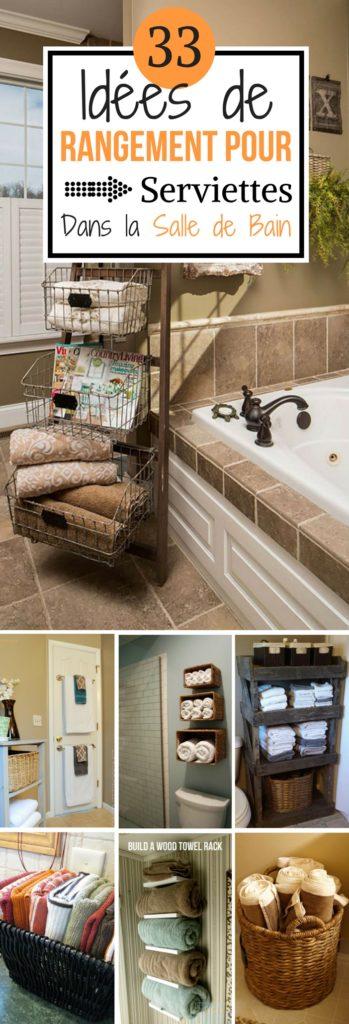 33 id es de rangement pour serviettes dans la salle de bain chasseurs d 39 astuces. Black Bedroom Furniture Sets. Home Design Ideas