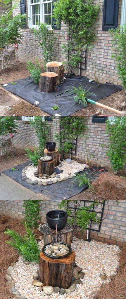 Fabriquer Sa Fontaine De Jardin 6 idées de fontaine de jardin à faire soi-même avec du bois