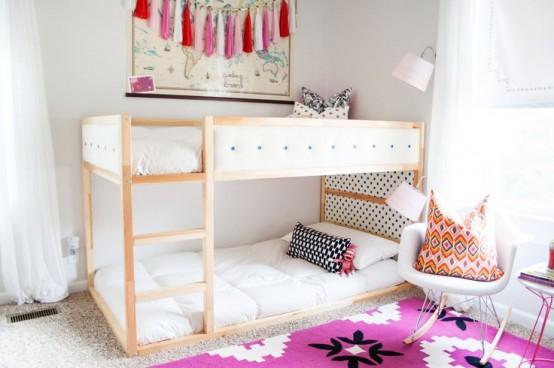 45 id es de chambre pour enfants avec des lits ikea kura cabane ch teau. Black Bedroom Furniture Sets. Home Design Ideas