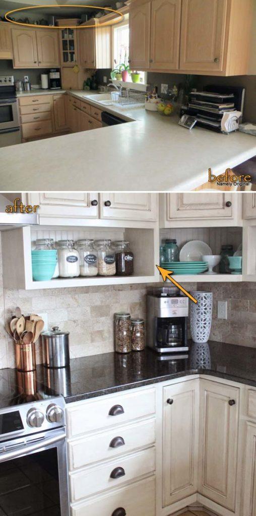 21 id es de rangement pour votre comptoir de cuisine qui for Etagere dessus evier cuisine