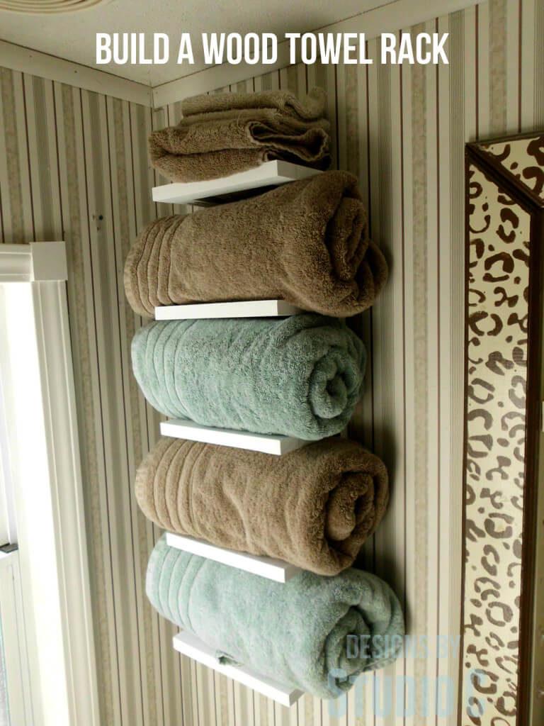 Comment Rouler Les Serviettes De Bain 33 idÉes de rangement pour serviettes dans la salle de bain