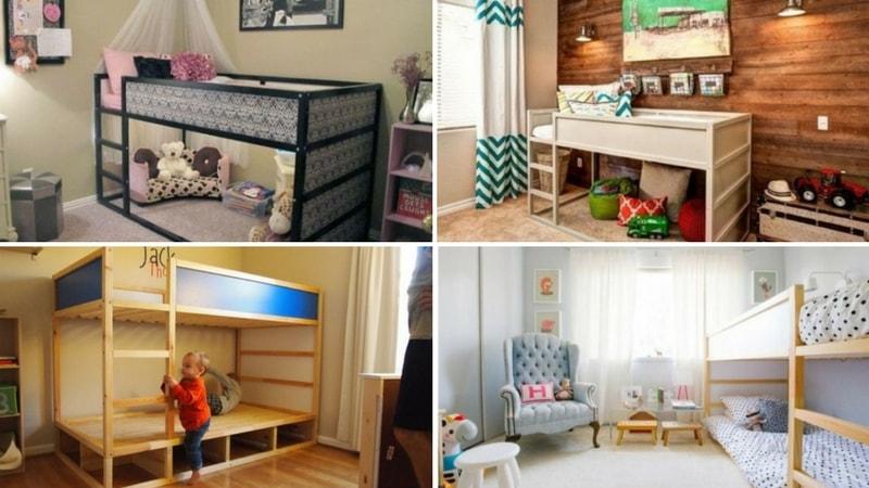 45 Idées de chambre pour enfants avec des lits Ikea Kura ...